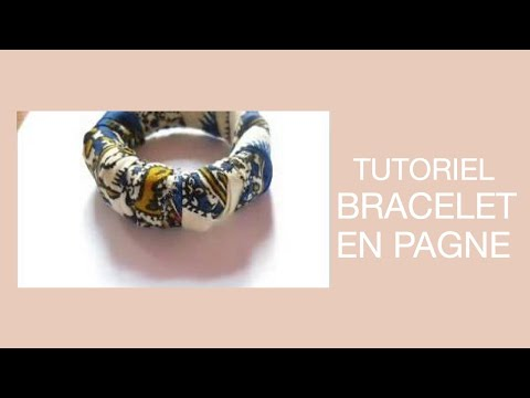 comment faire soi m me ou customiser un bracelet en pagne facile youtube. Black Bedroom Furniture Sets. Home Design Ideas