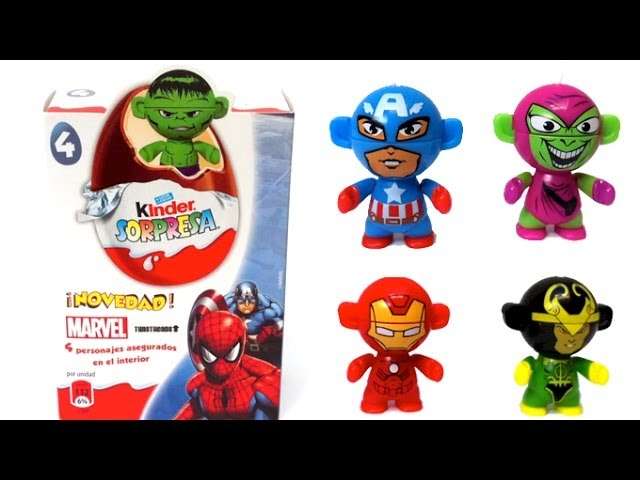 4 Surprise Eggs Marvel Hulk  Pack Huevo kinder Sorpresa by Lababymusica Travel Video