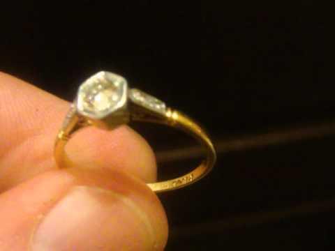 Кольцо с бриллиантом 0,3 карата - YouTube 004b49210fd