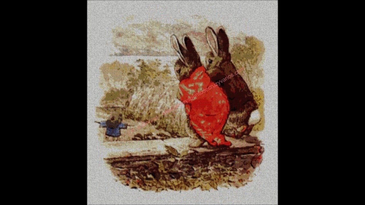 GRÁFICOS A PUNTO DE CRUZ. BEATRIX POTTER - YouTube