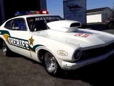 Ford Maverick 1971 Sheriff Drag Race Car Walk Around