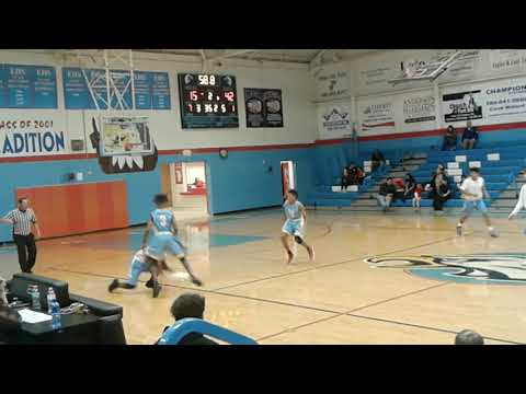 PC West Freshman MaLik Hearn Lay up from A Steal against Lawton Ike