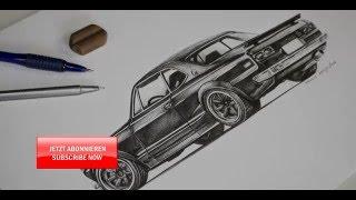 Speedpaint Nissan Skyline GTR C10: How to draw a car?