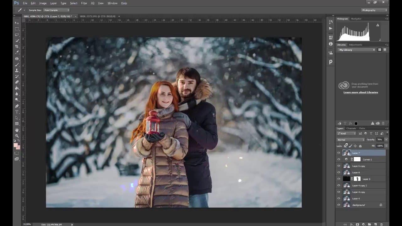 Обработка зимней фотографии в LIGHTROOM & PHOTOSHOP - YouTube