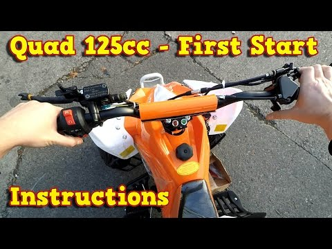 Quad 125ccm, 110cc - First Start Instructions + Test Ride