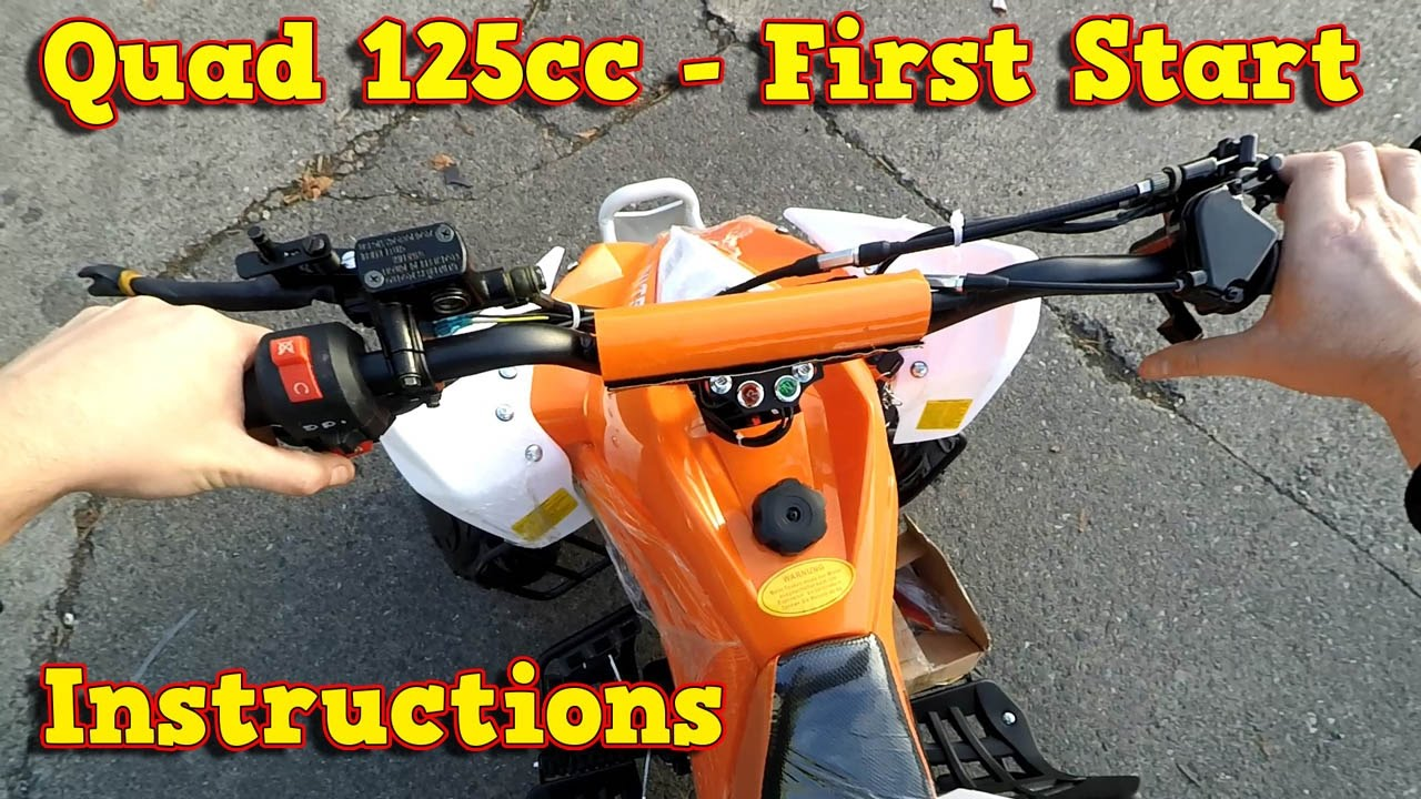 quad 125ccm 110cc first start instructions test ride. Black Bedroom Furniture Sets. Home Design Ideas