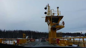 Ice road driving to Kuopio
