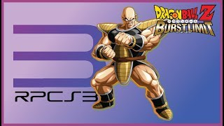 Dragon Ball Z: Burst Limit - GAMEPLAY NO EMULADOR RPCS3 - O Saiyajin NAPA- Parte 2