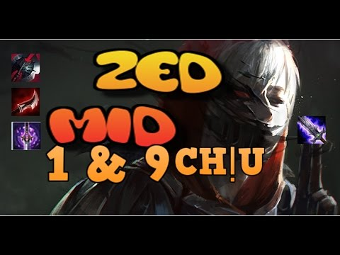 ZED MID│1 vs 9│Chúa Tể Bóng Tối│Cách Chơi & Lên Đồ│LOL│Season 7│
