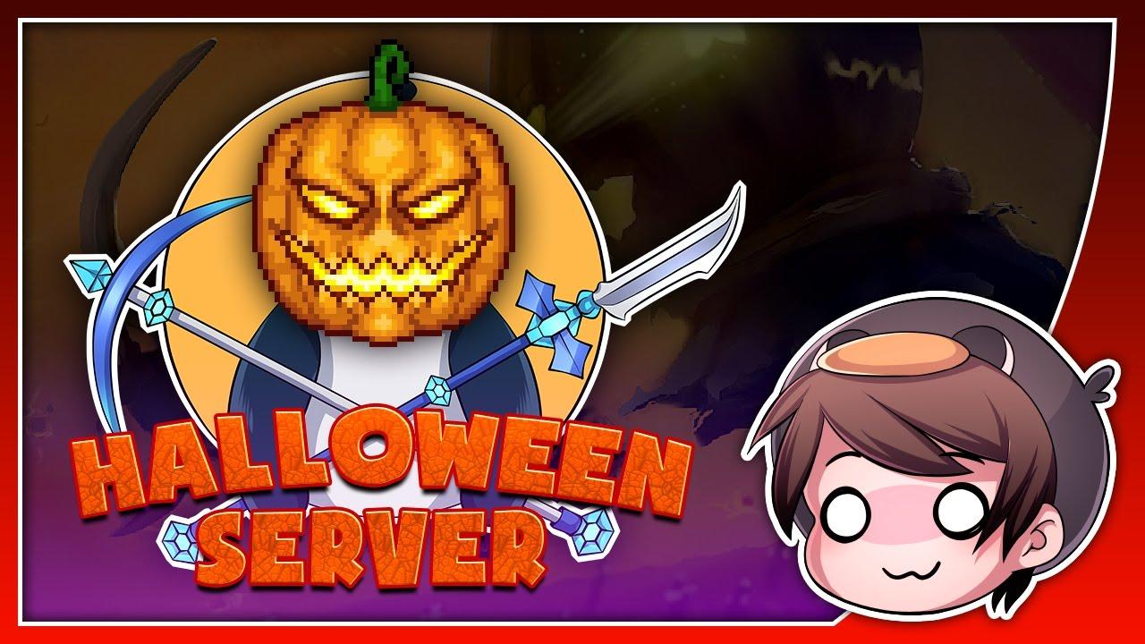Halloween Themed Terraria Server + New Parkour Map - Pedguin