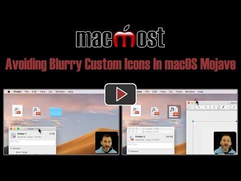 Avoiding Blurry Custom Icons In macOS Mojave