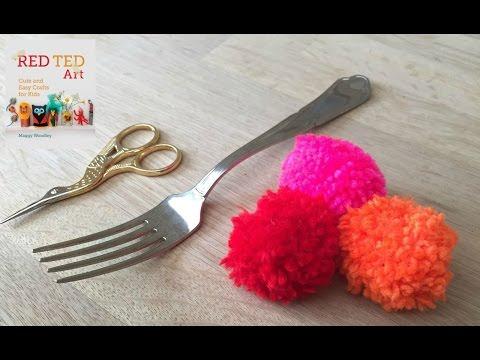 How to Make Fork Pom Poms