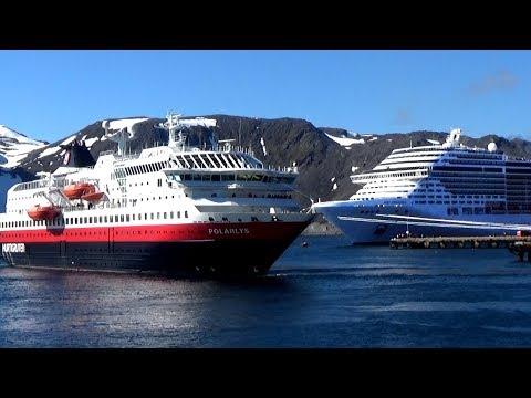 MS Polarlys ship in Honningsvag  Hurtigruten ships
