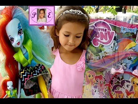 My little pony Dergisi açtık. Hediyesi pony taç çok güzel . Eğlenceli çocuk videosu