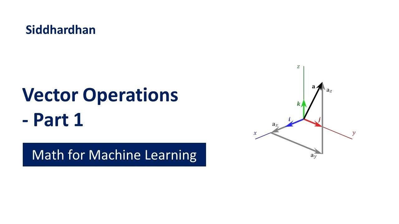 Vector Operations - Part 1   Mathematics for Machine Learning   Linear Algebra