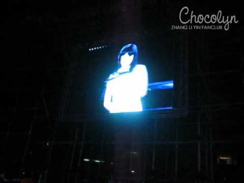 2009.02.07 SMTOWN Bangkok - Zhang Li Yin - One More Try Fancam [Chocolyn]