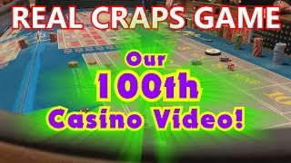Live Craps Game #32 - CELEBRATING 100 VIDEOS ON OUR CHANNEL! - Win some prizes! - Inside the Casino