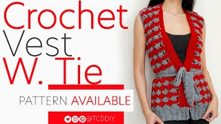 Crochet Vest with Tie | Pattern & Tutorial DIY