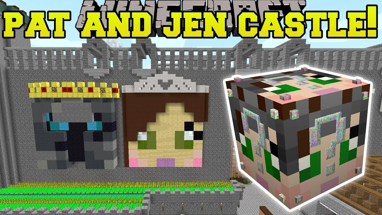 Minecraft: PAT & JEN'S REAL HOME HUNGER GAMES - Lucky ...