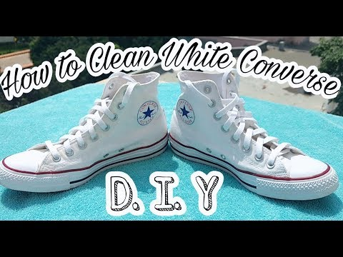 How to Clean Your White Converse | D.I.Y Tutorial | 2 Easy Methods || Shanky Jr