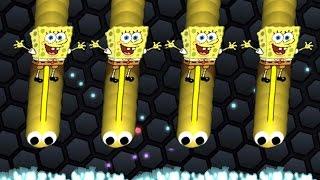 Serpiente de bob esponja Skin SpongeBob  Mod Slither.io Funny/Best Moments