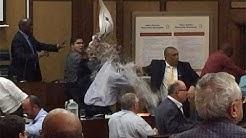 WATCH | That council 'water jug' brawl