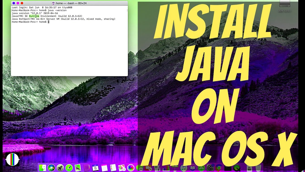How to Install Java on Mac OS X | 2019