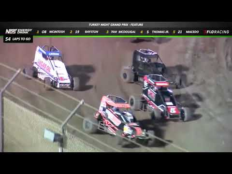 Turkey Night NOS Energy Drink USAC Midget Feature Highlights from Ventura Raceway