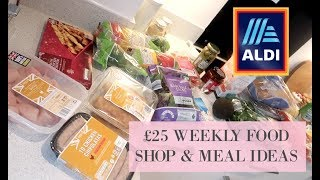 £25 A WEEK ALDI HEALTHY FOOD SHOP & MEAL IDEAS | AFFORDABLE & BUDGET HEALTHY LIVING | Hazel Wood