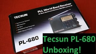 Tecsun PL-680 Unboxing - Shortwave SSB FM MW LW AIR band World Radio Receiver