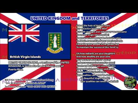 British Virgin Islands National Song OH BEAUTIFUL VIRGIN ISLANDS with vocal and lyrics