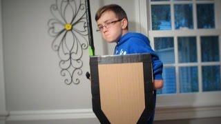 How to Make a Cardboard Shield BATTLE READY IN 20 MINS!!!!