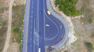 Фото Завершилась укладка финишного слоя асфальта на Камышовом шоссе
