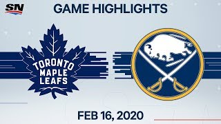 NHL Highlights | Leafs vs Sabres - Feb. 16, 2020