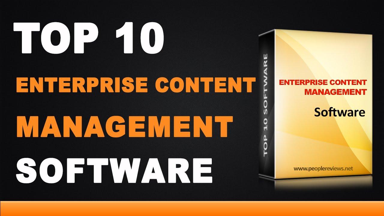 Best Enterprise Content Management Software Top 10 List Youtube
