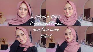 6 Style Tutorial Hijab Segiempat SIMPLE BANGET