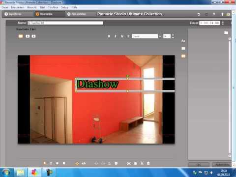 Standarttitel einfügen Pinnacle Studio 14 15 Diaschau