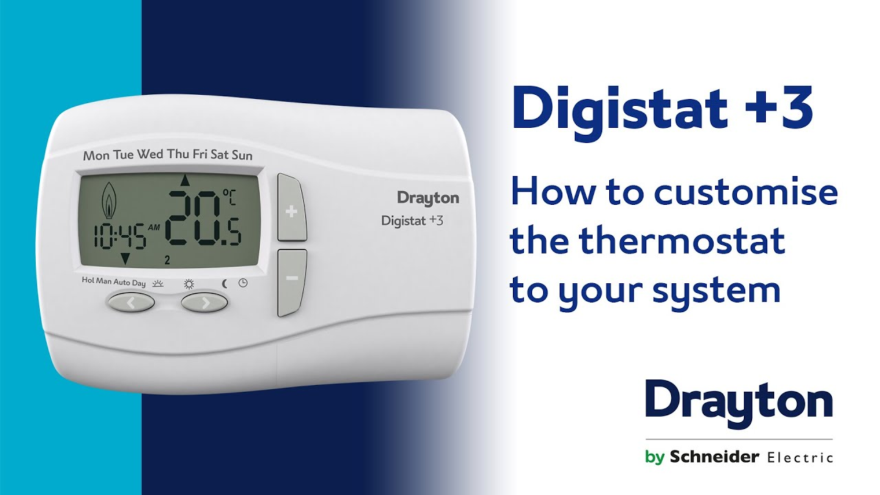 how to customise the thermostat to your system drayton. Black Bedroom Furniture Sets. Home Design Ideas