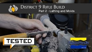 Prop: Shop - Tested's District 9 Rifle Build: Part 2 - Lathing and Molding