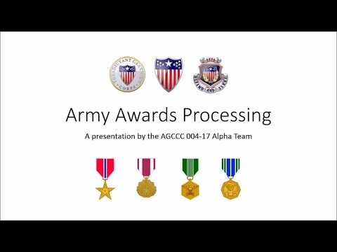 Adjutant General's School HR Playbook - Awards Processing Battle Drill