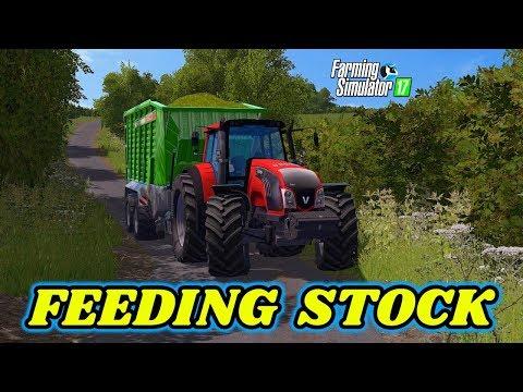 Farming Simulator 2017 | Valtra T163 Feeding Livestock & Filling A Silage Clamp On OakField Farm 😉