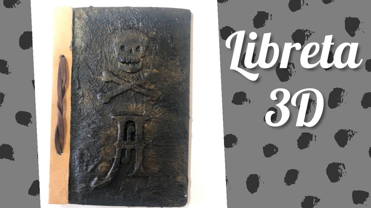 Libreta personalizada 3D pirata