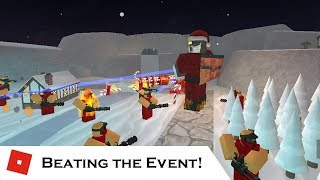 BEATING the Christmas Event | Tower Battles [ROBLOX]