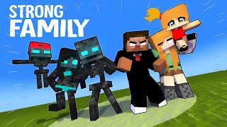 "SEASON 7: ""Herobrine and Wither's STRONG FAMILY"": MONSTER SCHOOL MINECRAFT ANIMATION"
