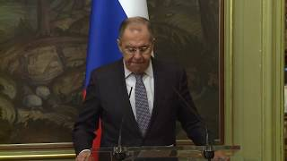 Пресс-конференция С.Лаврова и А.Сафади