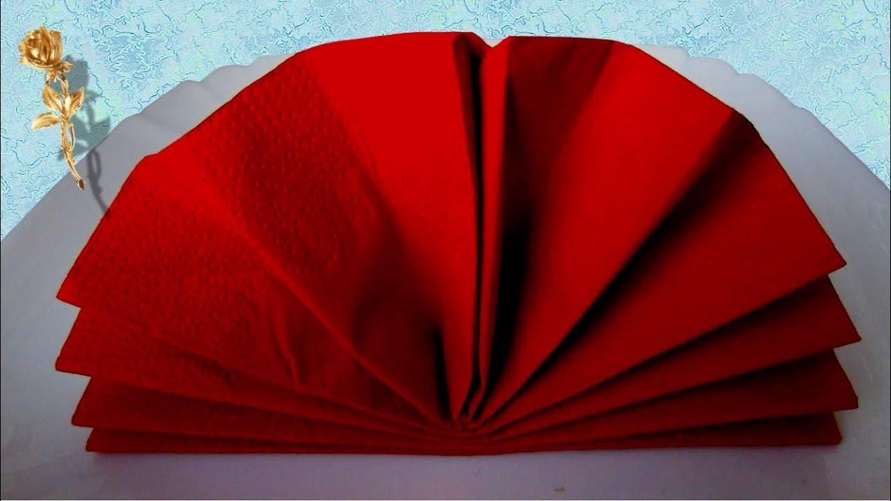 Pliage Serviette Facile Range Couverts pliage des ? serviettes : eventail sur assiette