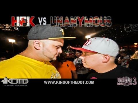 KOTD - Rap Battle - HFK vs Unanymous | #WD3