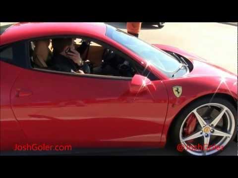 Red Ferrai 458 Italia, Silver Mercedes Benz C63 AMG, Black Porsche 911, Red Lexus SC