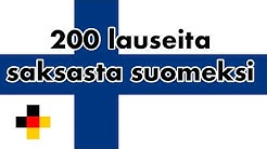 Opi saksaa: 200 lauseita saksasta suomeksi