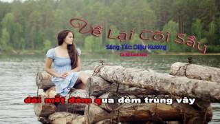 Karaoke - Về Lại Cõi Sầu - ST Diệu Hương
